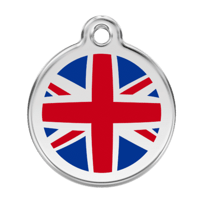 UK Flag Pet Tag by Red Dingo